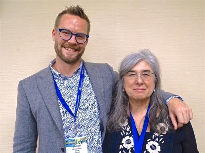Michael Salter and Valerie Sinason. Photo credit: ISSTD